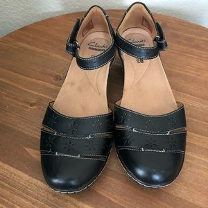 Clarks Collection, 8.5, Black Mary Jane Shoes
